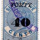 (I.B) Ceylon Revenue : Foreign Bill 40c on 75c OP