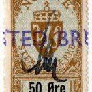 (I.B) Norway Revenue : Duty Stamp 50 Øre