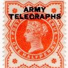 (I.B) QV Telegraphs : Army Telegraphs ½d