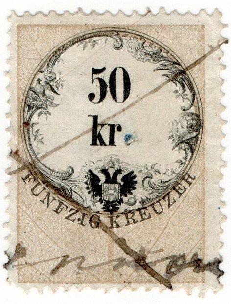 (I.B) Austria/Hungary Revenue : Stempelmarke 50kr