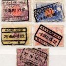 (I.B) Belgium Railways : Parcel Stamp Collection