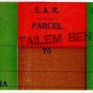 (I.B) Australia - South Australia Railways : Parcel Label (Tailem Bend)