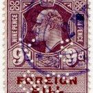 (I.B) Edward VII Revenue : Foreign Bill 9d (KS & Co perfin)