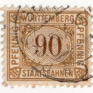 (I.B) Germany Railway : Württemburg Parcels 90pf