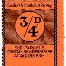 (I.B) Dundee & Arbroath Joint Railway (LMS) : Newspaper Parcel ¾d