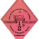 (I.B) Southern Western & Midland Railway (Somerset & Dorset) : Newspaper ½d