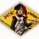 (I.B) Cinderella : Delandre Great War Regiments - 34th Infantry