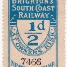 (I.B) London Brighton & South Coast Railway : Newspaper Parcel ½d