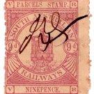 (I.B) Australia - South Australia Railways : Parcels 9d