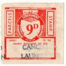 (I.B) Australia - Tasmania Railways : Parcel 9d (Launceston)