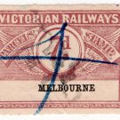 (I.B) Australia - Victoria Railways : Parcels 7d (Melbourne) sdwys watermark