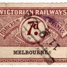 (I.B) Australia - Victoria Railways : Parcels 7d (Melbourne) inv watermark