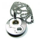 Gay Mens 3 Toned Double Male Pendant Stainless Steel and Titanium