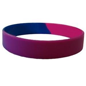 Bisexual Pride Silicone Bracelet Bi Gay Pride Bracelet