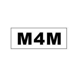"""M4M"" Gay Pride Bumper Sticker 3 x 8 inch"