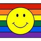 Smiley Face on Rainbow Flag Gay Pride Mug White Coffee Cup Rainbow Kitchen