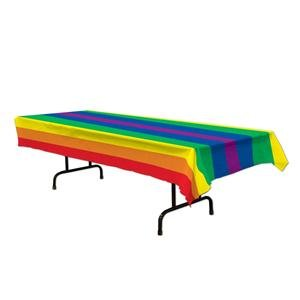 Gay Pride Rainbow Tablecloth 54 x 108 Inches Table Cloth