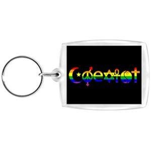 Coexist Key Chain Acrylic Gay Pride Rainbow Keychain