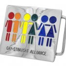 Belt Buckle Gay Straight Alliance Equality Love Is Love Is Love Rainbow