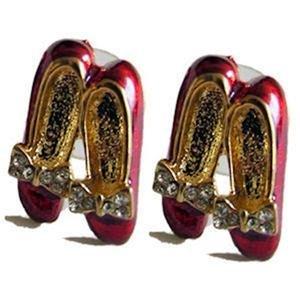 Wizard of Oz Ruby Red Slippers Stud Earrings