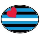 Leather Flag Auto Magnet Euro Leather Pride