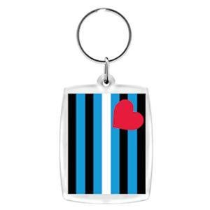 Leather Flag Acrylic Keychain Key Chain Leather Pride
