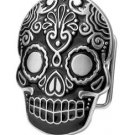 Belt Buckle Sugar Skull Black Mexican Katrina Dia De Muertos Day of the Dead