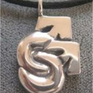 Men's Silver Double Mars Pendant Gay Pride Male