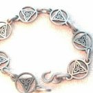 Celtic Triquetra Trinity Knot Pewter Link Bracelet 8 Inch Christian Irish Pagan