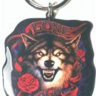 Biker Metal Keychain Lone Wolf by Hot Leathers Motorcycle Harley