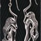 0.925 Sterling Silver Mermaid Hook Earrings