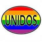 Unidos Latino Pride Auto or Truck Magnet Gay Pride Rainbow Euro Magnet