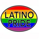 Latino Pride Auto or Truck Magnet Gay Pride Rainbow Magnet
