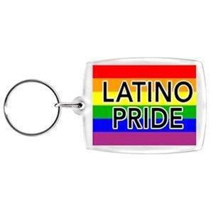 Latino Pride Key Chain Acrylic Gay Pride Rainbow Keychain