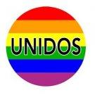 Unidos Pin Super Sized Latino Gay Pride Rainbow Button Pin 2.25 Inch