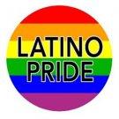 Latino Pride Button Pin Super Sized Mexican Gay Pride Rainbow 2.25 Inch