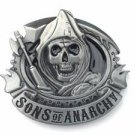 Sons of Anarchy Reaper Belt Buckle Metal Biker Skull SAMCRO