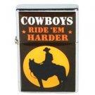 Cowboy Cigarette Lighter Cowboys Ride 'Em Harder