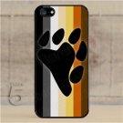 iPhone 5 Slim Hard Cell Phone Case Gay Bear Pride Flag w Bear Paw Slim Fit