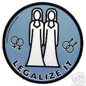 Lesbian LEGALIZE IT Bumper Sticker Female Gay Marriage