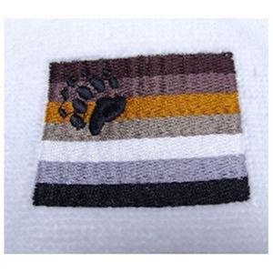 Gay Bear Pride Flag Bath Towel Embroidered
