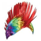 Gay Pride Rainbow Feathers Mohawk Wig