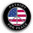 Patriot For Peace Bumper Sticker