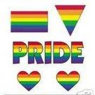 Rainbow Heart Set Value Pack Sticker Lesbian Gay Pride