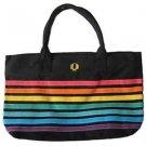 Gay Pride Rainbow Beach Bag Tote Bag Black Background
