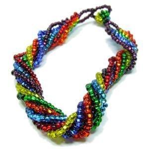 Chakra Bracelet Glass Bead Strands Rainbow
