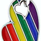 Rainbow Gay Pride Pewter Dog Tag Necklace for Gays and Lesbians