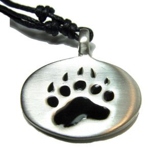 Bear Pride Pewter Dog Tag Necklace for Gay Men