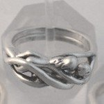 Silver WOMAN / WOMAN Embrace Puzzle Ring LESBIAN Gay