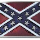 3D Rebel Flag Belt Buckle Classic Southern Confederate Flag Deep Enamel